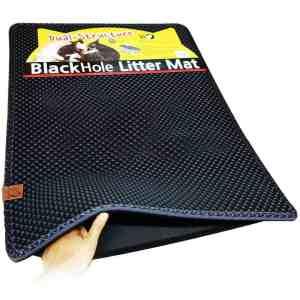 """Moonshuttle Blackhole Cat Litter Mat - Super Size Rectangular 30"""" X 23"""""""