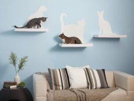 Cat Silhouette Cat Shelves