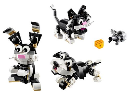 LEGO Creator 31021 Furry Creatures bunny cat dog mouse
