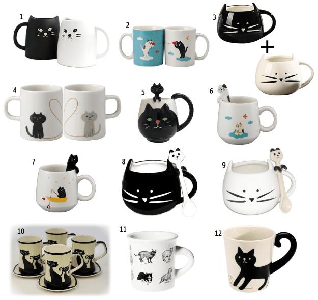Cat Coffee Mugs - Cat Tea Cups