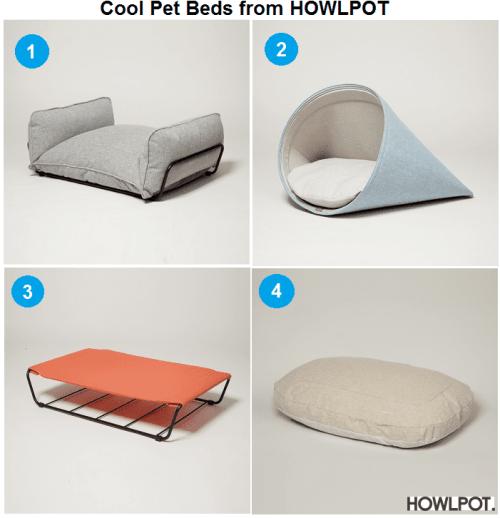 Cool Pet Beds from Howlpot