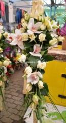 lumanari nunta arad curgatoare cu trandafiri