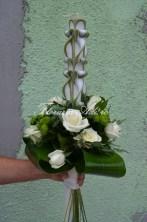 lumanari nunta arad trandafiri albi