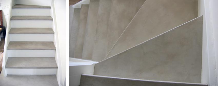 Escalier en béton ciré Ma's couleur Sofia
