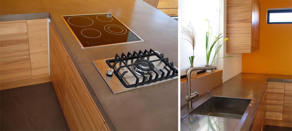 plan de travail en b ton cir chocolat flore molinaro. Black Bedroom Furniture Sets. Home Design Ideas