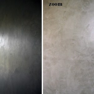 Enduit stucé métalique