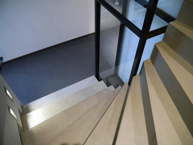 Escalier en béton ciré Flore Molinaro