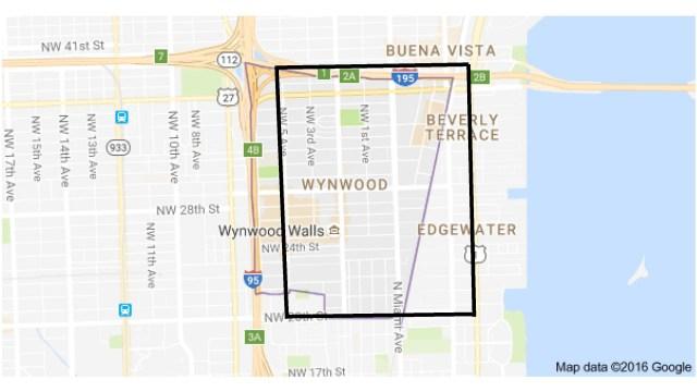 Transmission locale de virus Zika en Floride: carte de la région touchée à Miami.