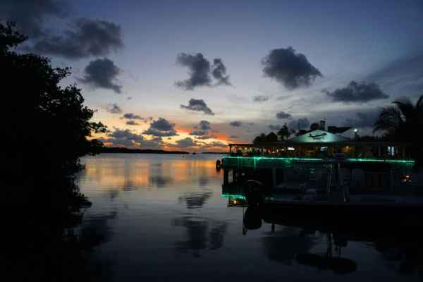 Lorelei Cabana Bar and Restaurant, Islamorada, a favorite place to watch sunset.