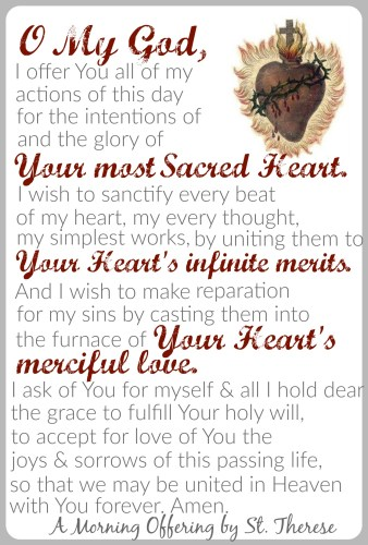 Morning Offering St. Therese