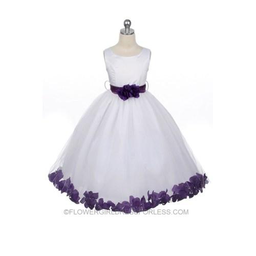 Medium Crop Of Purple Flower Girl Dresses