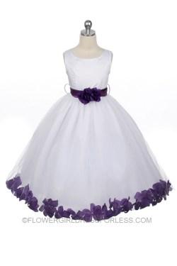 Small Of Purple Flower Girl Dresses