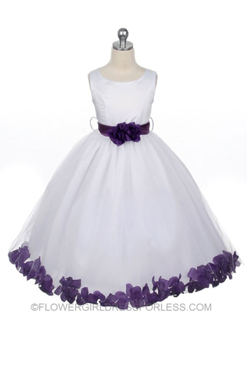 Medium Of Purple Flower Girl Dresses