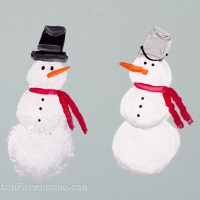 Learn How to Paint a Simple Snowman