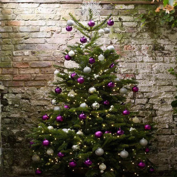 Awesome Ideas Of Purple and Silver Christmas Tree   Best Home Design     Corporate Christmas Trees  Corporate Christmas Trees for purple and silver