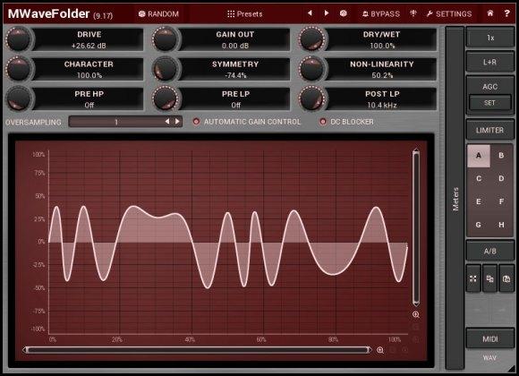 MWaveFolder analog inspired distortion module
