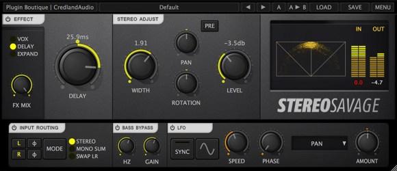Stereo Savage's interface