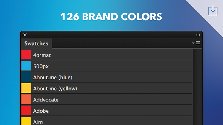 Freebie: Top Brand Colour Swatches