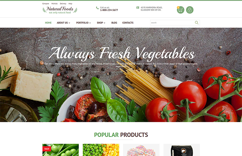 Foods wordpress theme