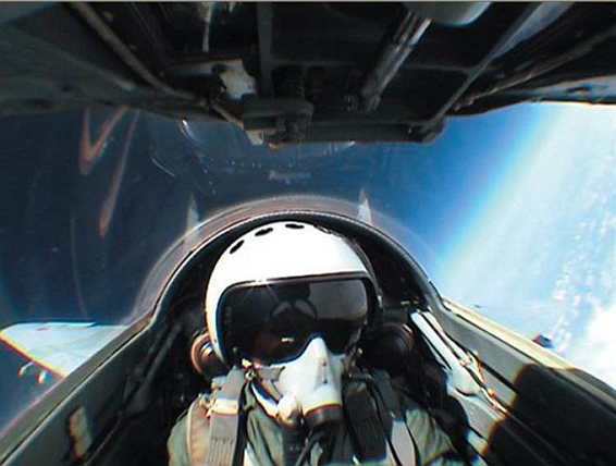 fly fighter jet mig 29 edge of space
