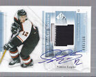2004 05 SP Authentic Rookie Review RRSG Simon Gagne Jersey AUTOGRAPH Flyers