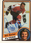 1984 85 OPC AUTOGRAPHED BILL BARBER HOCKEY CARD
