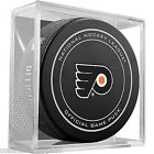 NHL Philadelphia Flyers Official Game Puck in Display Cube