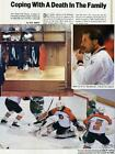 PELLE LINDBERGH SI 1985 Philadelphia Flyers Goalie Rare Article with Card