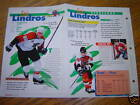 ERIC LINDROS SPORTS HEROES 4 PAGE BOOKLET SHEET CARD