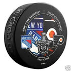 NEW YORK RANGERS PHILADELPHIA FLYERS 2014 Playoffs Round 1 NHL DUELING LOGO PUCK