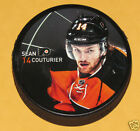 SEAN COUTURIER Philadelphia Flyers PLAYER PHOTO PUCK 2013 NEW 14 In Glas Co