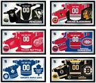 Choose Your NHL Team 26 x 15 Framed Litho Color Personalized Jersey Wall Mirror
