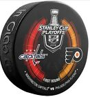WASHINGTON CAPITALS PHILADELPHIA FLYERS 2016 STANLEY CUP PLAYOFFS PUCK NHL RD 1