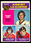 1975 76 OPC O PEE CHEE HOCKEY 209 BOBBY ORR CLARKE PETE MAHOVLICH BOSTON BRUINS