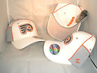 PHILADELPHIA FLYERS WHITE N GREY COLOR BLOCK SMALL 7 7 1 4 FITTED HAT