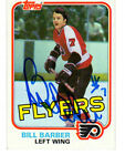Bill Barber Autographed 1981 82 Topps Card 2