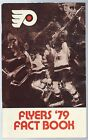 1978 79 Philadelphia Flyers NHL Hockey Media Guide Record Book Fact Book