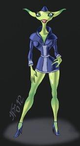 hôtesse de l'air alien