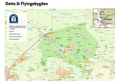 Flyingebygden karta