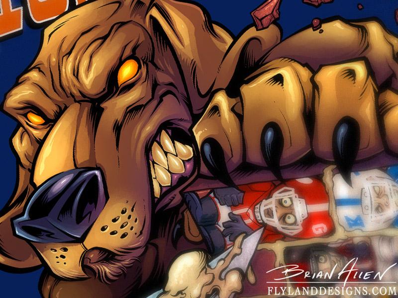 Football Bloodhound Mascot T-Shirt