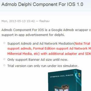 Delphi Firemonkey Admob Component For IOS