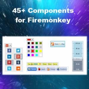 Delphi XE6 Firemonkey 45 Component Mega Suite