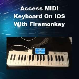Delphi XE5 Firemonkey IOS Midi Keyboard USB API Connection