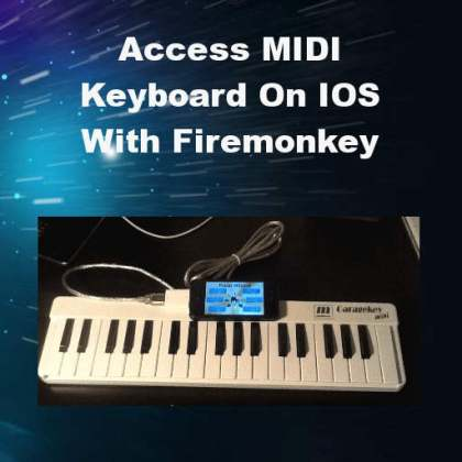 Delphi XE5 Firemonkey IOS Midi Keyboard USB API Connection
