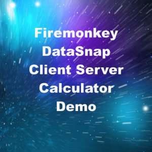 Delphi XE6 Firemonkey DataSnap Client Server Calculator Demo