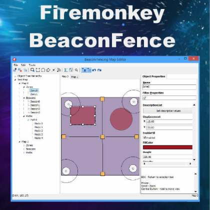 Delphi XE8 Firemonkey Beacon Fence Android IOS OSX