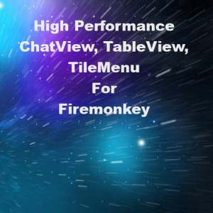 Delphi 10 Berlin Table View Chat View Slide Menu Firemonkey Android IOS