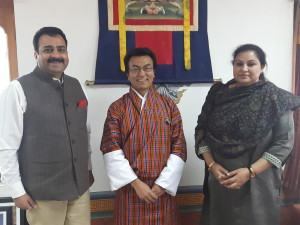 With Hon'ble Lekey Dorji, Minister for Economic Affairs, Government of Bhutan