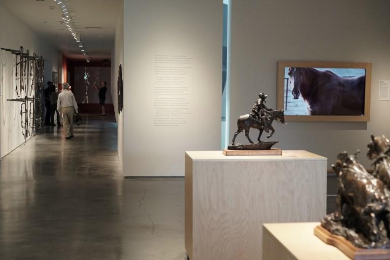"""Equus Caballus"" on display at the Nevada Museum of Art"