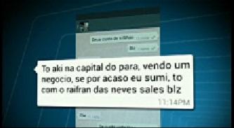 Mensagem enviada por Leandro antes de ser assassinado pelo WatsApp